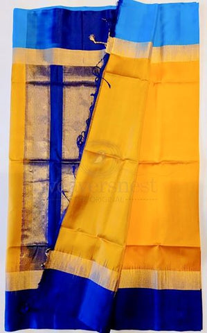 Canary soft silk saree