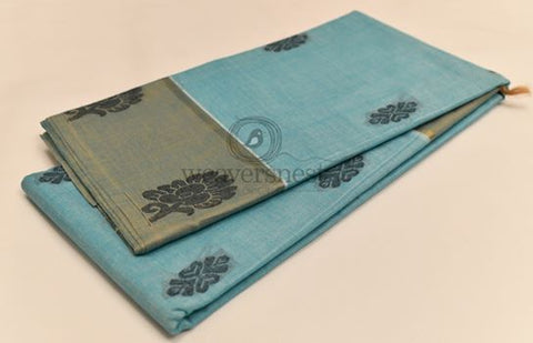 Blue Negamam Cotton Saree