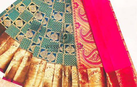 Pure Silk Saree with Zari work
