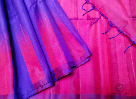 Purple-Pink Raw silk saree
