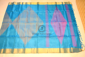 Soft Silk Saree with Geometrical Pattern