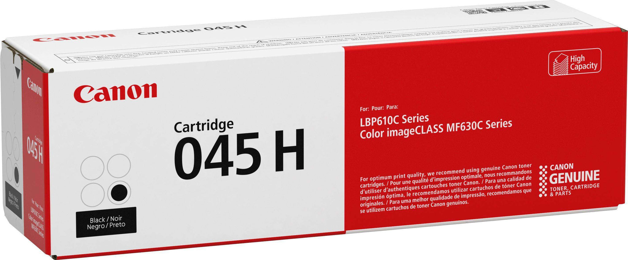Canon 045H BK High Yield Toner Cartridge
