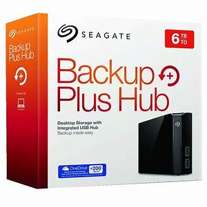 Seagate 6TB Backup Plus Hub External Harddrive