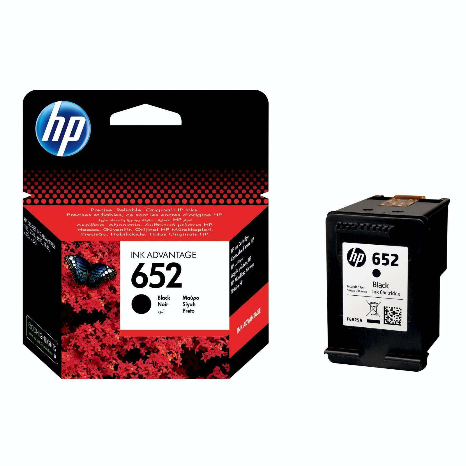 hp F6V25AE no.652 BK Ink Cartridge