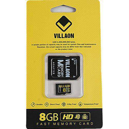 Villaon 8GB Micro SD Card + Adaptor (Class 4)