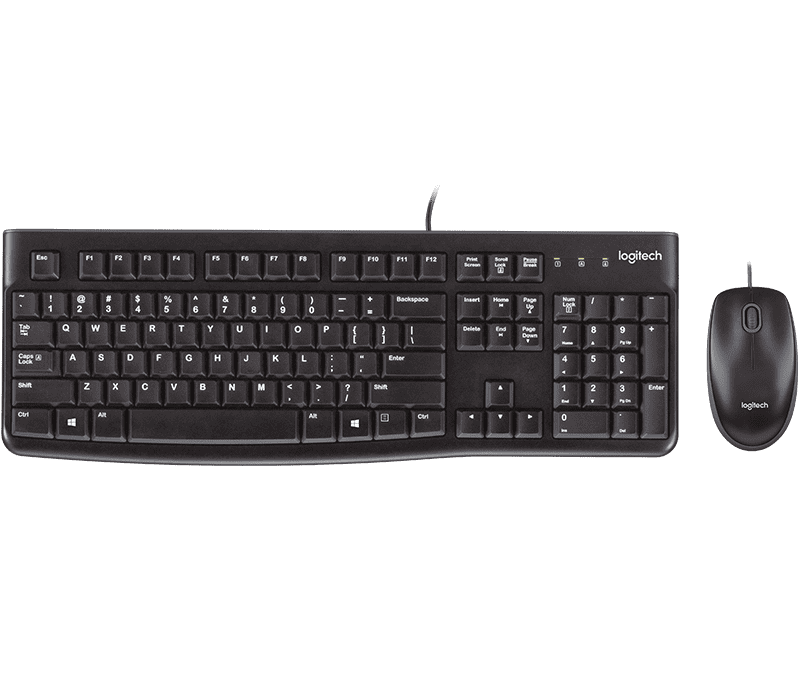 Logitech MK120 USB keyboard and mouse