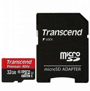 Transcend 32GB Micro SD Card + Adaptor (Class 10)