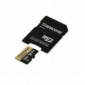 Transcend 64GB Micro SD Card + Adaptor (Class 10)