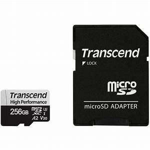 Transcend 256GB Micro SD Card + Adaptor (Class 10)