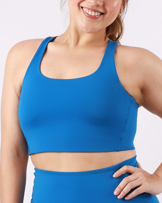 Groove Basic Tank Bra in Blueberry