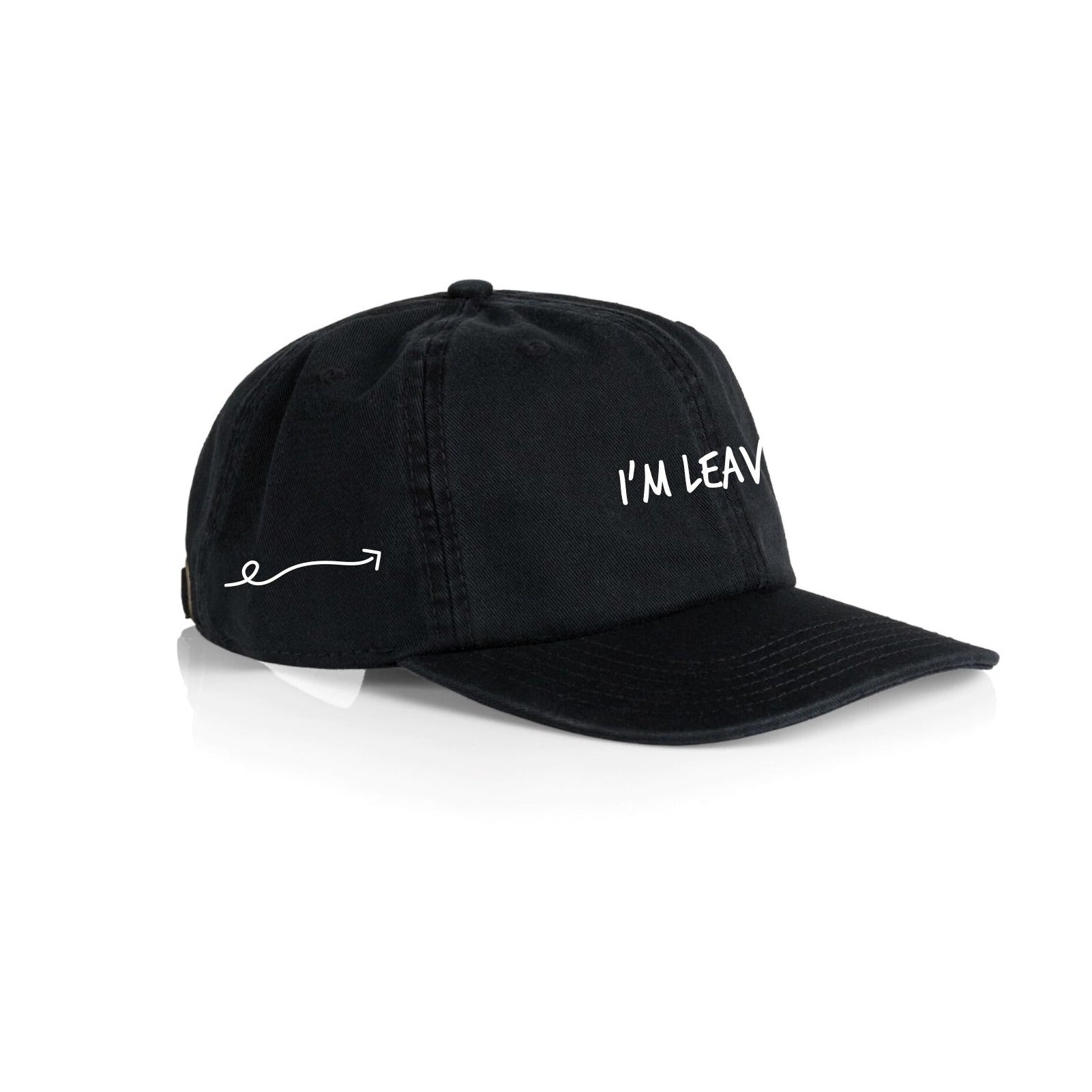 Black/White 'I'm Leaving' Hat