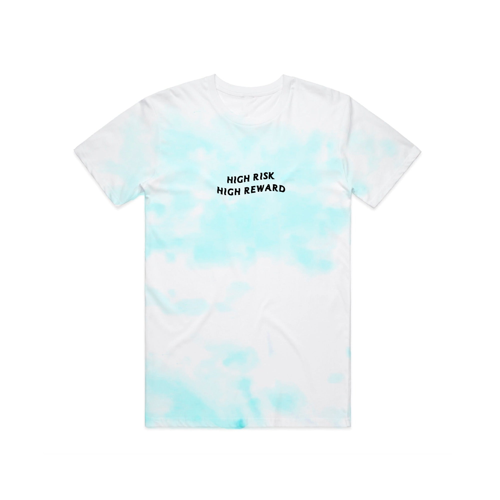 'High Risk High Reward' Seafoam Tie Dye Tee