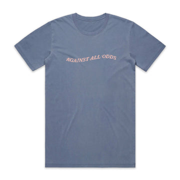 Against All Odds Wave Tee - Faded Blue