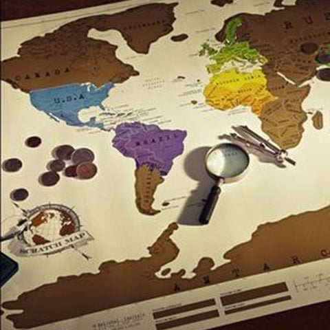 1 PCS Scratch OFF MAP Travel Scratch Map 88x52 cm World Map Novelty Gift