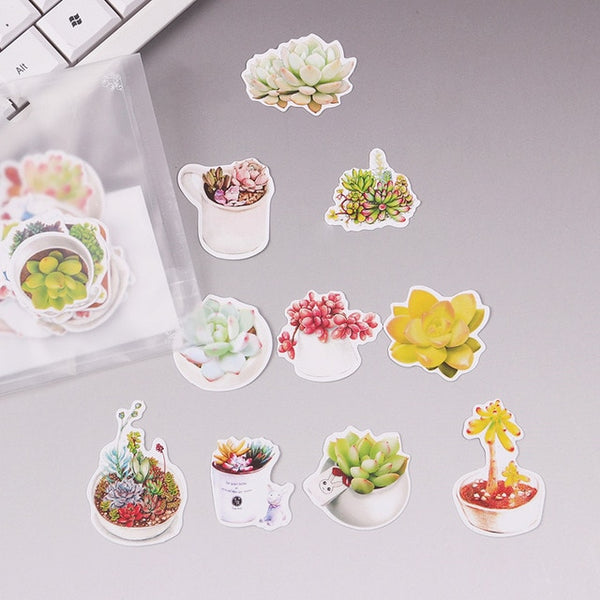 40 PCS Creative Little Dragon Green Paper Sticker Decoration DIY Ablum Diary Scrapbooking Label Sticker Cute Stationery TZ100
