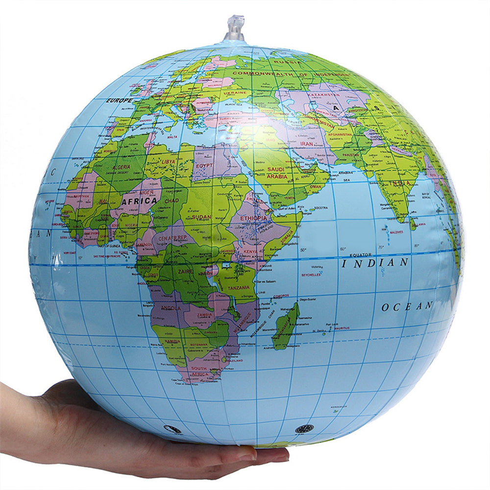 30cm Inflatable Globe World Earth Ocean Map Ball Geography Learning Educational Beach Ball Kids Toy home Office Decoration