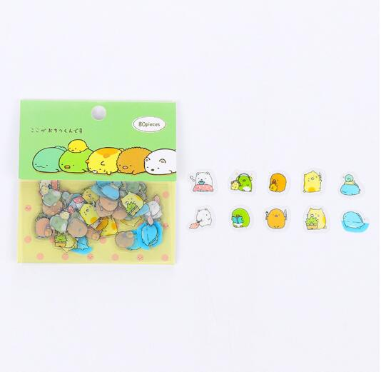 80 pcs/pack Cute Cat Mini PVC Sticker Cartoon Sumikko Gurashi Decoration DIY Ablum Diary Scrapbooking Label Sticker Stationery