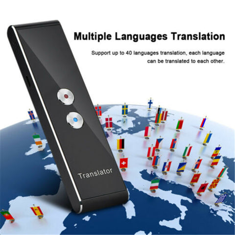 T8 Portable Mini Multi-Language Smart Translator 40 Languages APP Translator Bluetooth Wireless Two-Way Real Time Instant Voice