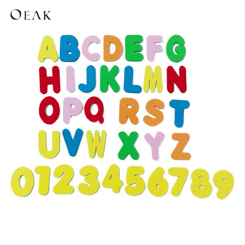Oeak Early Education Baby Learning ABC Alphabet Letter Cards Foam EVA26 English Letters + 10 Figures Bath Puzzle Literacy