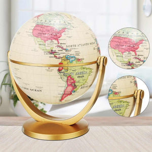 Vintage Pedestal English edition globe world map decoration earth globe with Gold base Geography terrestrial  tellurion