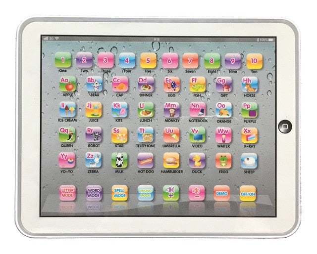 Tablet Language Learning Machine Alphabet Baby Tablet Educational Toy for Kid Electronic Touch Tablet Computer Gift Toy Kids