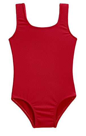 City Threads Girls' One Piece Swimming Suit With Sun Protection Spf For Beach Pool Or Play Swim Suit Rash Guard Bottoms Briefs, Red, 7