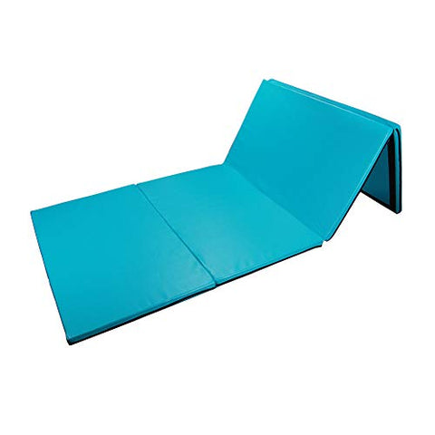 Polar Aurora 4'X8'X2 Multipe Colors Thick Folding Gymnastics Gym Exercise Aerobics Mats Stretching Fitness Yoga 10 Colors (Blue-Green)