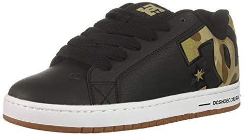 Dc Men'S Court Graffik Se Skate Shoe, Black/Military Camo, 7 D M Us