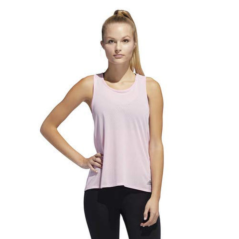 Adidas Women'S Response Tank Top, True Pink/Heather, Medium