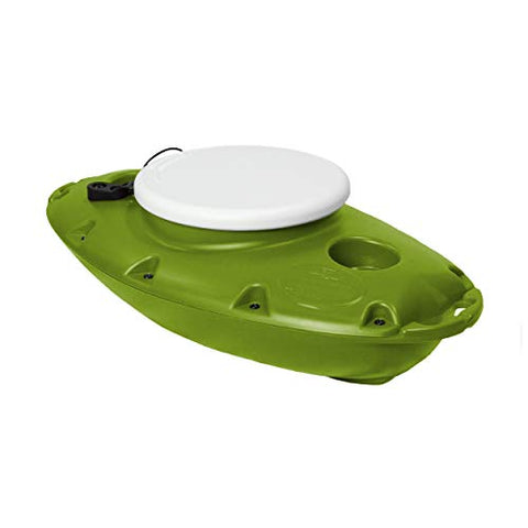 Creekkooler Pup Floating Cooler, 15 Quart, Tow Behind, Green