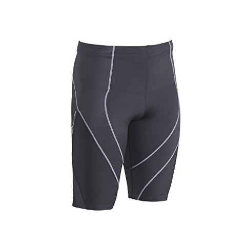 Cw-X Men'S Endurance Pro Shorts, Charcoal/Charcoal/Silver, Small