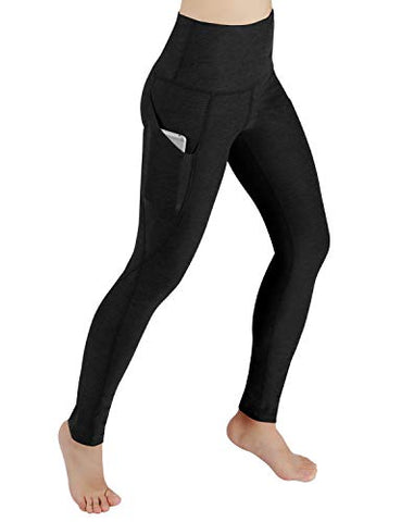Ododos High Waist Out Pocket Yoga Pants Tummy Control Workout Running 4 Way Stretch Yoga Leggings,Black,Xx-Large