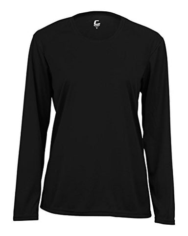 Black Ladies Small Long Sleeve Performance Wicking Athletic Sports Shirt/Undershirt/Jersey