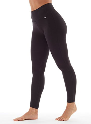 Bally Total Fitness Womens Tummy Control Long Legging, Black, Small