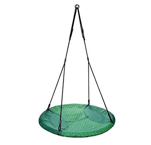 Hanging Circle Waterproof Fabric CTSC Saucer Kids 40 Tree Swing for Outside Green Heavy-Duty Easy to Hang Round Backyard or Playground Adventure Quick Dry Nest Swing