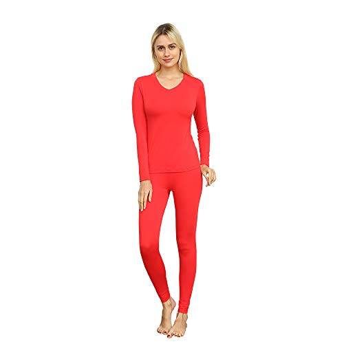 37b02e6427 Vipex Women'S Long Thermal Underwear Winter Base Layering Set Slimming  Top &Amp