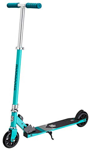 Mongoose Trace 120 Foldable Kick Scooter, Featuring Quick-Release Adjustable Height Handlebars With 120Mm Wheels, Teal