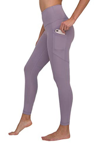 90 Degree By Reflex High Waist Interlink Yoga Pants - Frosted Lilac - Xs