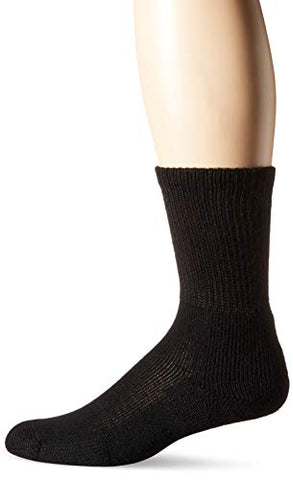 Thorlos Xj Running Thick Padded Crew Sock, Black X-Large