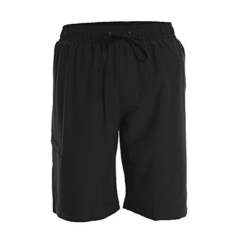 Mens Boardshorts - S - Black - Perfect Swimsuit, Swim Trunks, Board Shorts, Workout Or Athletic Shorts For The Beach, Lifting, Running, Surfing, Pool, Gym. For Adults, Mens Boys