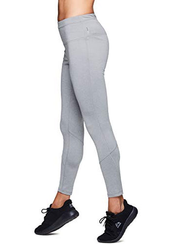 Rbx Active Women'S Fleece Lined Legging With Zippers Grey L
