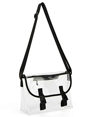 Pacmaxi Nfl Clear Stadium Bag Clear Crossbody Bag Stadium Approved Transparent Bag With Adjustable Shoulder Strap (Medium)