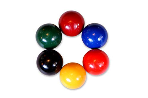 Amishtoybox.Com Set Of 6 Replacement Croquet Balls, Made In The Usa,