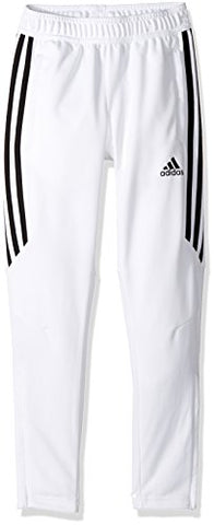 Adidas Youth Soccer Tiro 17 Pants, X-Large - White/Black