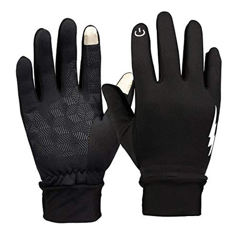 Winter Gloves - Yoonow Touch Screen Gloves Windproof Thermal Anti-Slip Work Gloves Warm Driving Gloves Running Cycling Gloves Outdoor Indoor Sport Gloves For Men And Women (Black, M)