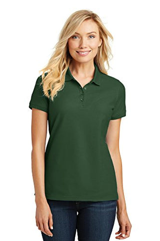Port Authority Ladies Core Classic Pique Polo. L100 Deep Forest Green S