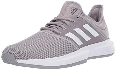 Adidas Women'S Gamecourt, Light Granite/White/Grey, 6.5 M Us
