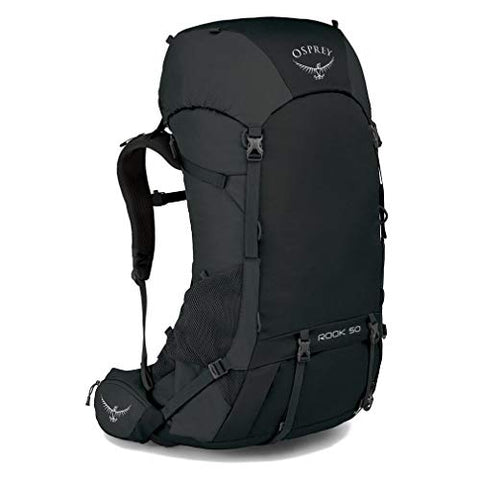 Osprey Packs Rook 50 Backpacking Pack, Black, One Size