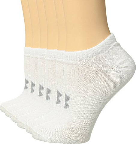 Under Armour Women'S Essential No Show Socks , White (1259396-102) / Anthracite/White, Medium