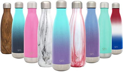 Simple Modern 34Oz Wave Water Bottle - Stainless Steel Liter Double Wall Vacuum Insulated Leakproof Ombre: Tropical Seas